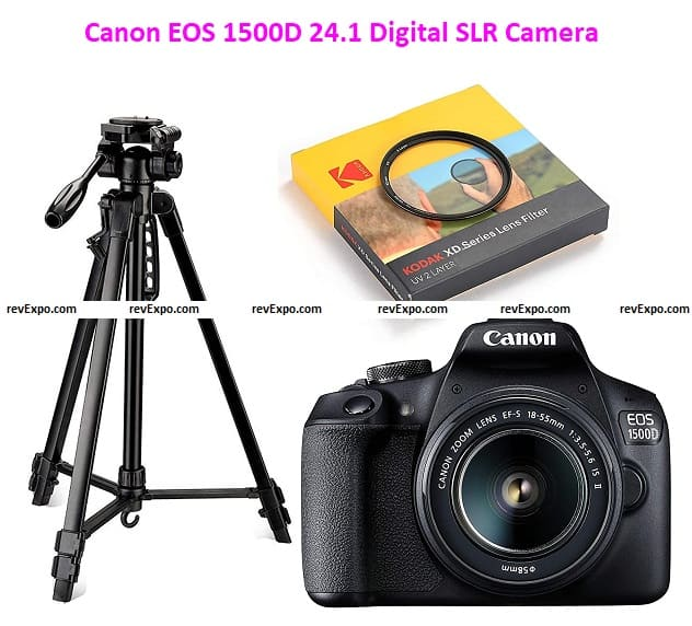 Canon EOS 1500D 24.1 Digital SLR Camera with EF S18-55 is II Lens