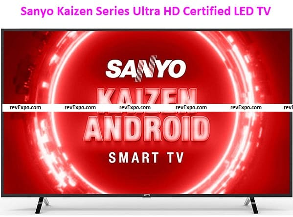 Sanyo 139 cm (55 inches) Kaizen Series 4K Ultra HD Certified Android LED TV XT-55UHD4S (Black) (2020 Model)