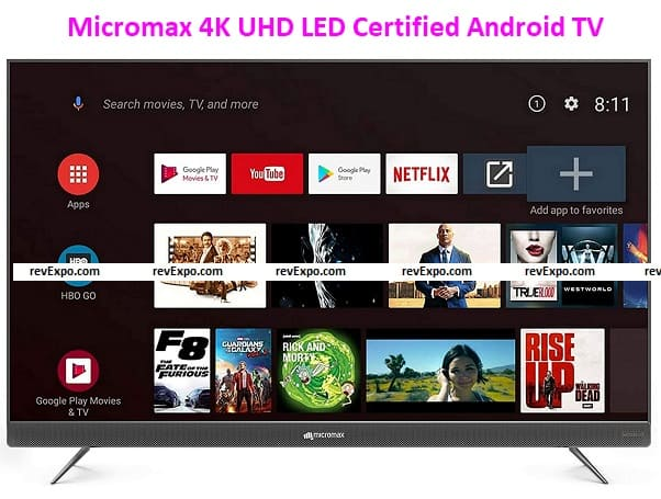 Micromax 139.7 cm (55 inches) 4K UHD LED Certified Android TV L55TA7000UHD (Matte Grey)