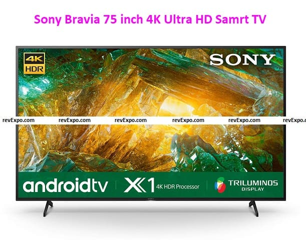 Sony Bravia 75 inch TV 4K Ultra HD Smart Certified Android LED TV 75X8000H