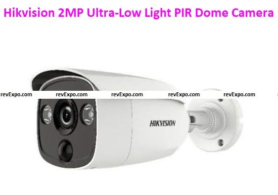 Hikvision 2MP Ultra-Low Light PIR Dome Camera 3D-DNR, WDR, IP67, and OSD MENU