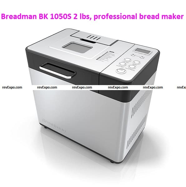 Breadman BK 1050S 2 lbs, professional bread maker, with collapsible kneading paddles
