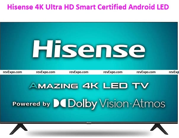Hisense 50 inch TV 4K Ultra HD Smart Certified Android LED 50A71F