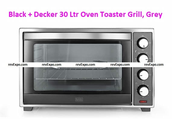 Black + Decker 30 Ltr Oven Toaster Grill, Grey