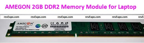 AMEGON 2GB PC2-6400 DDR2 800Mhz SO-DIMM Memory Module for Laptop