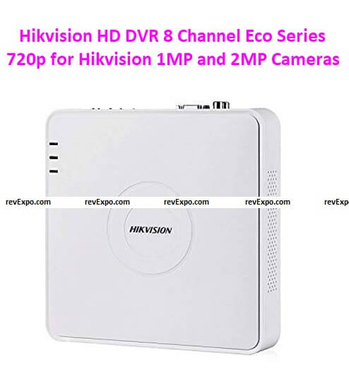 Hikvision HD DVR 8 Channel DS-7A08HGHI-F1 Eco Series 720p for Hikvision 1MP and 2MP Cameras