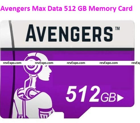 Avengers Max Data 512 GB Memory Card Micro SD