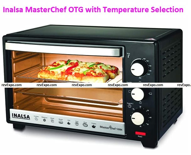 Inalsa MasterChef 16BK OTG with Temperature Selection-1300W