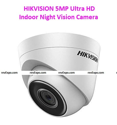 HIKVISION 5MP Ultra HD Indoor Dome DS-2CE5AHOT-ITPF Night Vision Camera (White)