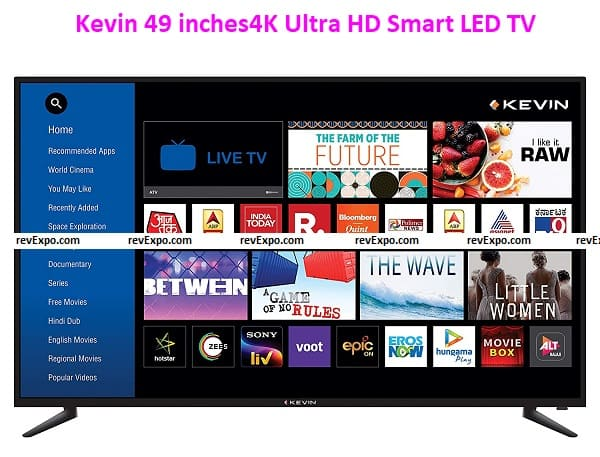 Kevin 49 inches4K Ultra HD Smart LED TV KN49UHD-PRO