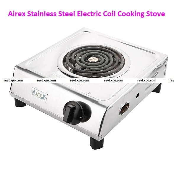 Airex Stainless Steel Hot Plate Electric Coil Cooking Stove