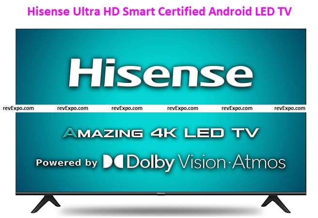 Hisense 108cm (43 inches) Ultra HD Smart Certified Android LED TV