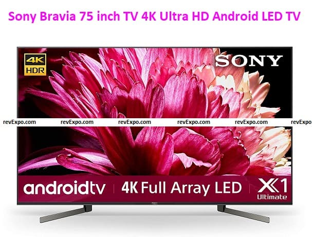 Sony Bravia 75 inch TV 4K Ultra HD Android LED KD-75X9500G