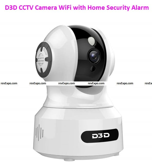 D3D CCTV Camera WiFi with Home Security Alarm System