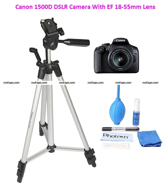 Canon 1500D DSLR Camera with EF 18-55mm Lens and Basic Accessory Kit