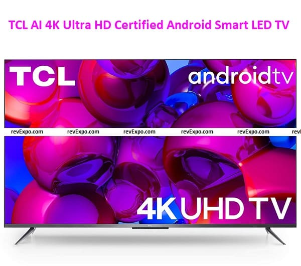 TCL 139 cm (55 inches) AI 4K Ultra HD Certified Android Smart LED TV 55P715 Silver (2020 Model)