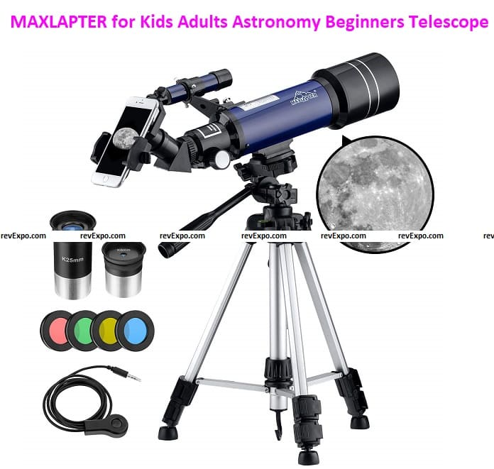 MAXLAPTER for Kids Adults Astronomy Beginners, 70mm Portable Telescope