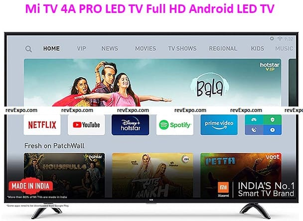 Mi TV 4A PRO 43 Inch LED TV Full HD Android LED TV with Data Saver