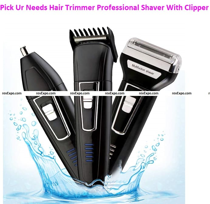 Pick Ur Needs® Hair Trimmer Professional Shaver With Clipper