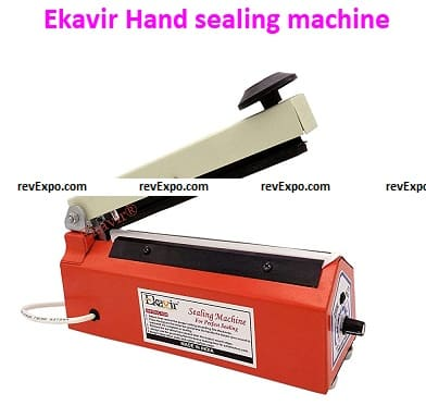 """Ekavir 8"""" Inches Hand sealing machine for Plastic pouch packing Table Top Heat Sealer"""