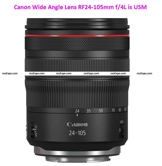 Canon Wide Angle Lens RF24-105mm f/4L is USM