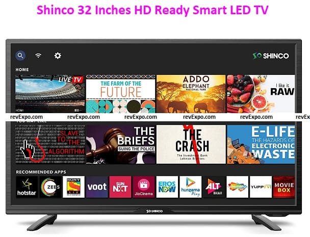 Shinco 32 Inches HD Ready Smart LED TV with Uniwall