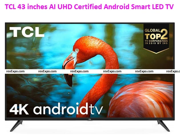 TCL 108cm (43 inches) AI UHD Certified Android Smart LED TV