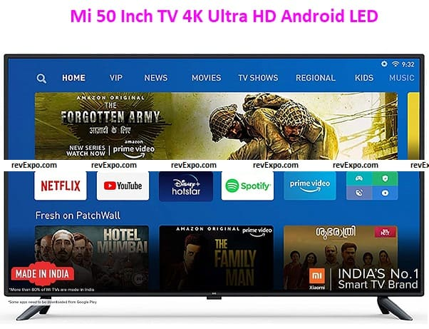 Mi 50 Inch TV 4K Ultra HD Android LED