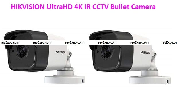 HIKVISION DS-2CE1AH0T-ITPF (5MP) UltraHD 4K IR CCTV Bullet Camera 2 Pieces - White