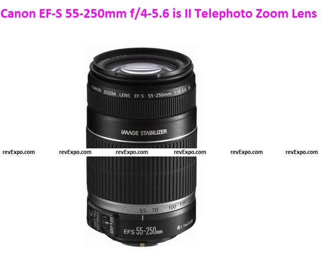 Canon EF-S 55-250mm f/4-5.6 is II Telephoto Zoom Lens for Canon DSLR Camera