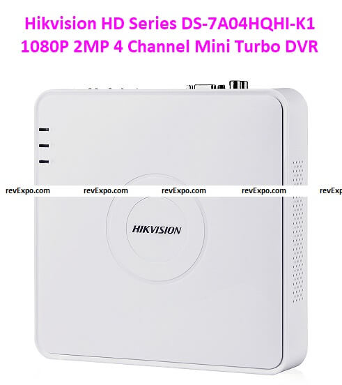 Hikvision HD Series DS-7A04HQHI-K1 1080P 2MP 4 Channel Mini Turbo DVR