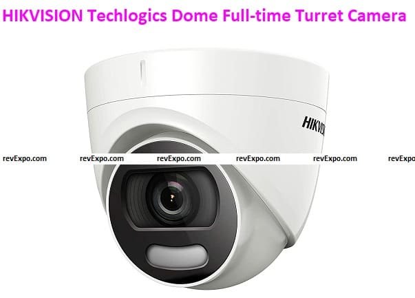 HIKVISION Techlogics DS-2CE72DFT-F Color Vu 2MP Dome Full-time Turret Camera, 3.6 mm Lens and White Light Distance 20 m