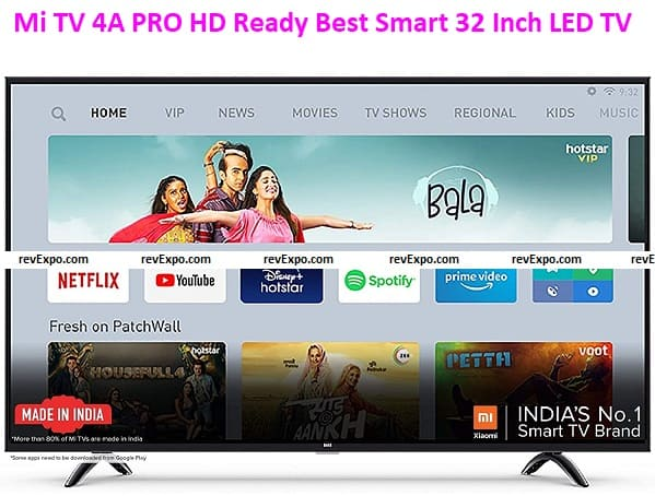 Mi TV 4A PRO HD Ready Best Smart 32 Inch LED TV with Data Saver