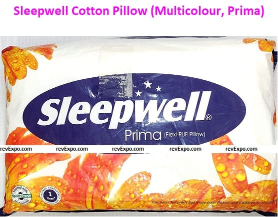 Sleepwell Cotton Pillow (Multicolour, Prima) - Pack of 2