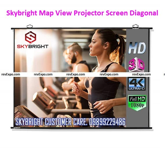 Skybright Map View Projector Screen