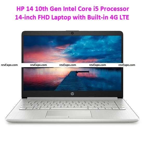 HP 14 10th Gen Intel Core i5 Processor 14-inch FHD Laptop with Built-in 4G LTE