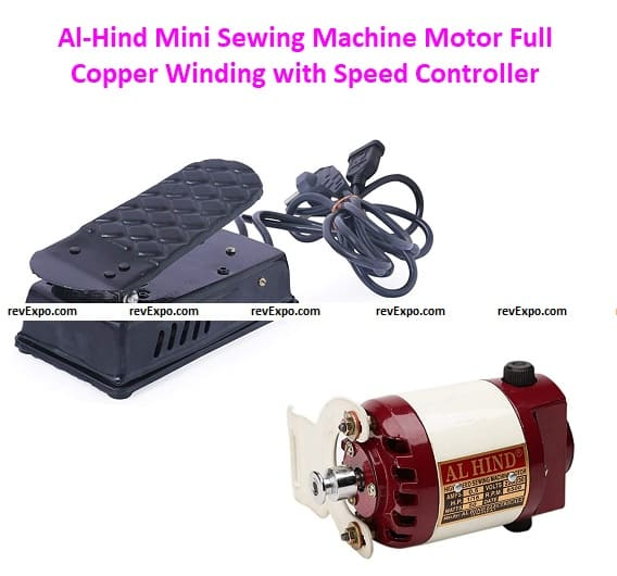 Al-Hind Mini Sewing Machine Motors Full Copper Winding with Speed Controller