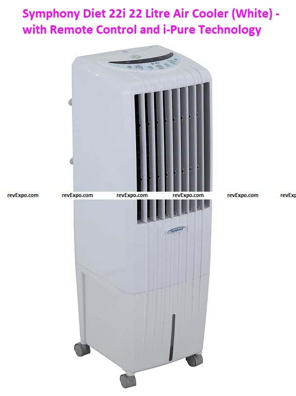 Symphony Diet 22i 22 Litre Air Cooler (White) - with Remote Control and i-Pure Technology