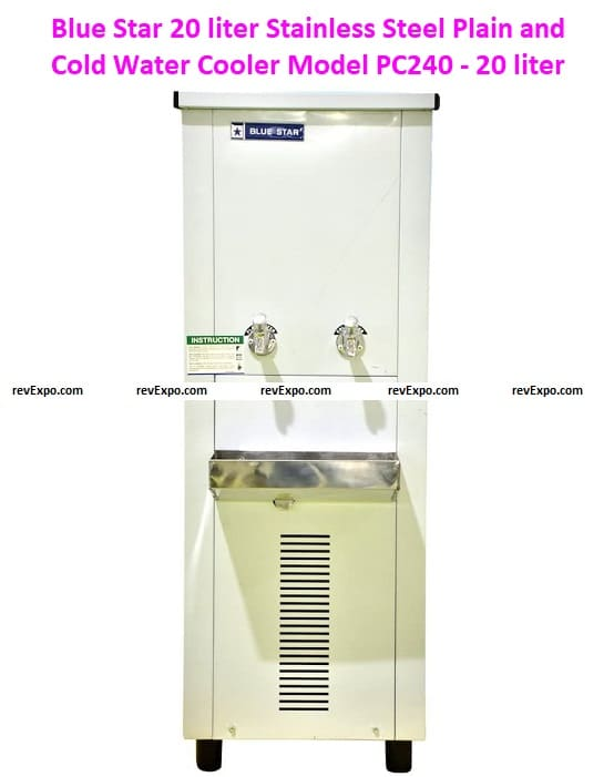 Blue Star 20 liter Stainless Steel Plain and Cold Water Cooler