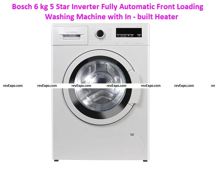 Bosch 6 kg 5 Star Inverter Fully Automatic Front Loading Washing Machine with Inbuilt Heater