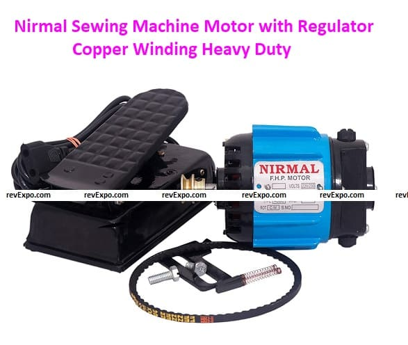 Nirmal Sewing Machine Motors with Regulator Copper Winding Heavy Duty (Murphy)