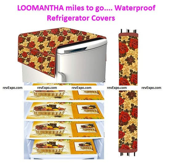 LOOMANTHA miles to go... Waterproof Refrigerator Covers