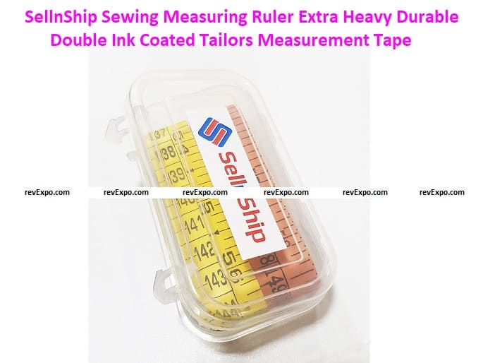 SellnShip Sewing Measuring Ruler Extra Heavy Durable Double Ink Coated Tailors Measurement Tape
