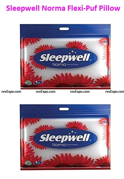 Sleepwell Norma Flexi-Puf Pillow (222549, Multicolour) - Pack of 2