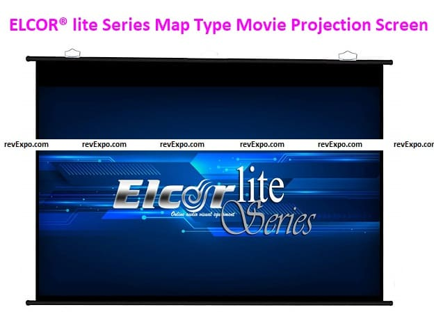 ELCOR® lite Series Map Type Movie Projection Screen