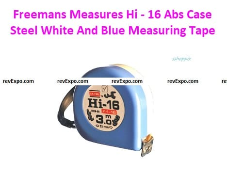 Freemans Measures Hi - 16 Abs Case Steel White And Blue Measuring Tape