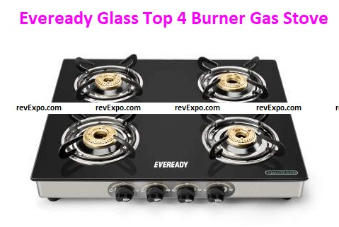 Eveready Glass Top 4 Burner Gas Stove