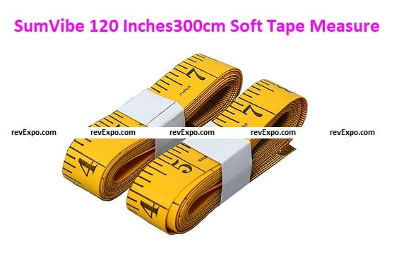 SumVibe 120 Inches/300cm Soft Tape Measure, Pocket Measuring Tape