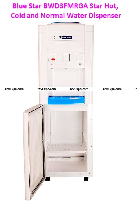 Blue Star BWD3FMRGA Star Hot, Cold, and Normal Water Dispenser with Refrigerator