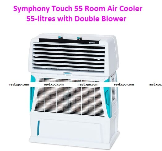 Symphony Touch 55 Room Air Cooler 55-litres with Double Blower